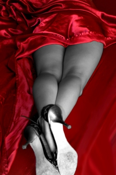 red-sheet-black-legs
